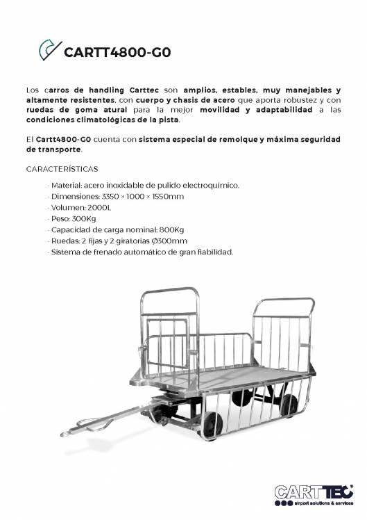 CARTTEC CARTT4800-G0. Remolque portaequipaje handling 1