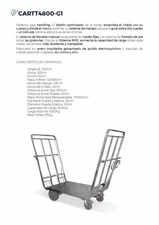 CARTTEC CARTT4800-G1. Carro portaequipaje para aeropuerto 1