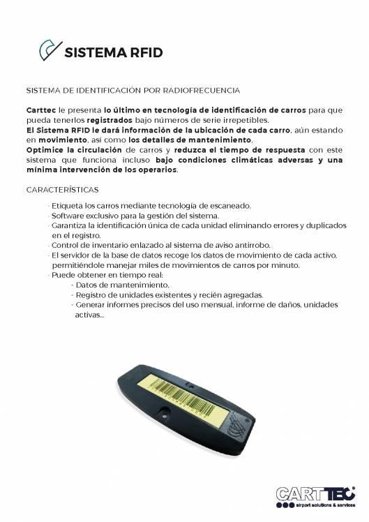 CARTTEC, Sistema RFID de identificación de carros por radiofrecuencia 1