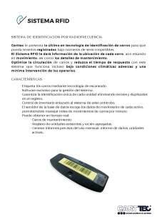 CARTTEC, Sistema RFID de identificación de carros por radiofrecuencia