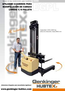 Catálogo de apiladores eléctricos para cargas largas HUBTEX EGPL