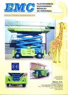 Catálogo EMC PE 12-15-18. Plataformas elevadoras móviles de tijera