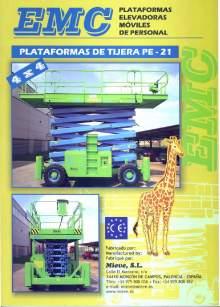 Catálogo EMC PE 21. Plataformas elevadoras móviles de tijera
