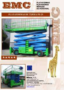 Catálogo EMC PE-25. Plataforma elevadora móvil de tijera