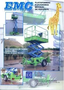 Catálogo EMC PE 8R - 9.5R - 11R. Plataformas elevadoras remolcables