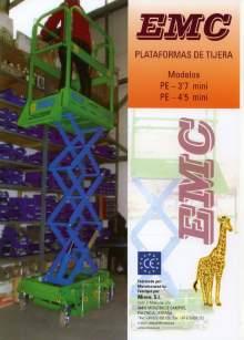 Catálogo EMC PE Mini 3.7 - 4.5. Plataformas elevadoras móviles de tijera
