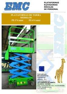 Catálogo EMC PE Mini 5.4 - 6.4. Plataformas elevadoras móviles de tijera