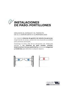 Catalogo de Instalaciones de paso CARTTEC