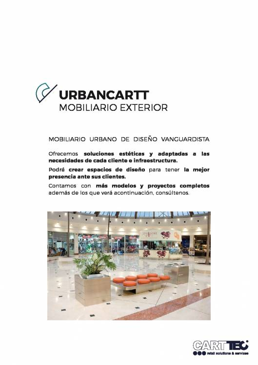 Catálogo de mobiliario exterior URBANCARTT 1