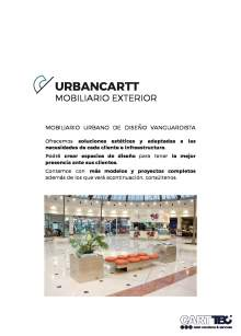 Catálogo de mobiliario exterior URBANCARTT