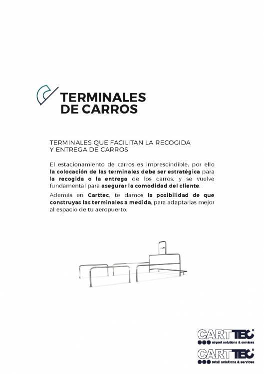 Catálogo de parking para carros de supermercado CARTTEC 1