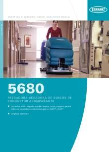 Catálogo TENNANT 5680 Fregadora-secadora de suelos de conductor acompañante