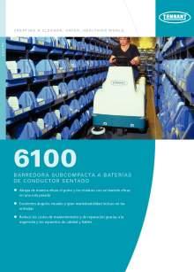 Catálogo TENNANT 6100 Barredora subcompacta de conductor sentado