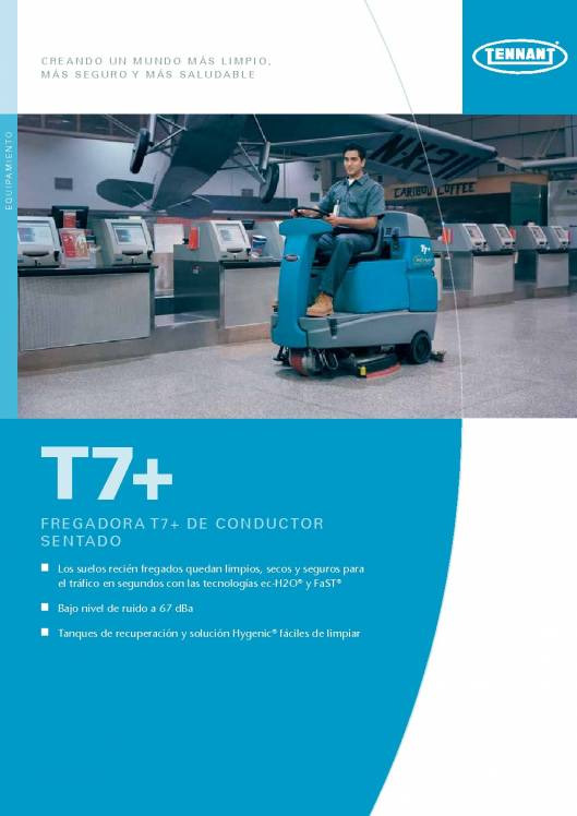 Catálogo TENNANT T7+ Fregadora de suelos de conductor sentado 1
