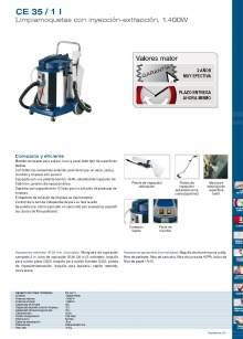 CE 35 / 1 L. Limpiamoquetas con inyección-extracción