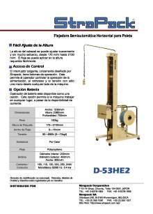 COMOSA STRAPP D-53HE2. Flejadora semiautomática horizontal para palets.