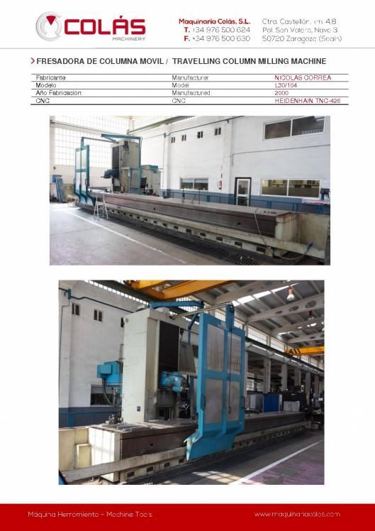 CORREA L30-104. Fresadora de columna móvil 1