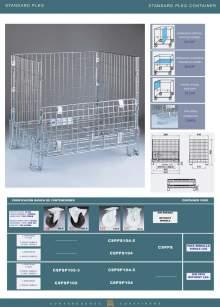 Ficha técnica de Contenedor standard pleg Marsanz.