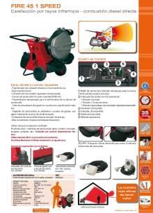 FIRE 45 1 SPEED. Generador de rayos infrarrojos.