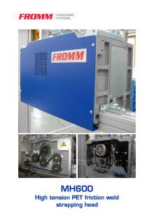 FROMM MH 600. Strapping head modular.