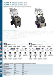 FURY 1 y 2. Generador de vapor monofásico.