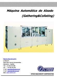 GCM-S. Máquina Automática de Alzado.