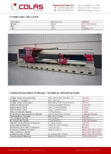 GEMINIS GHT-4 720 x 4000. Torno CNC
