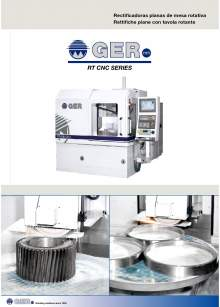 GER RT-CNC. Rectificadoras planas de mesa rotativa