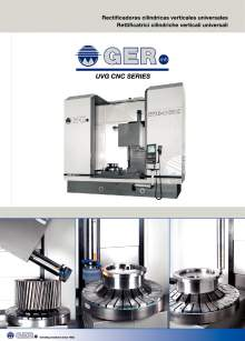 GER UVG-CNC. Rectificadoras cilíndricas verticales universales