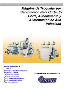 HHC-10. Máquina de Troquelar por Servomotor Para Corte, ½ Corte, Alineamiento y Alimentación de Alta Velocidad