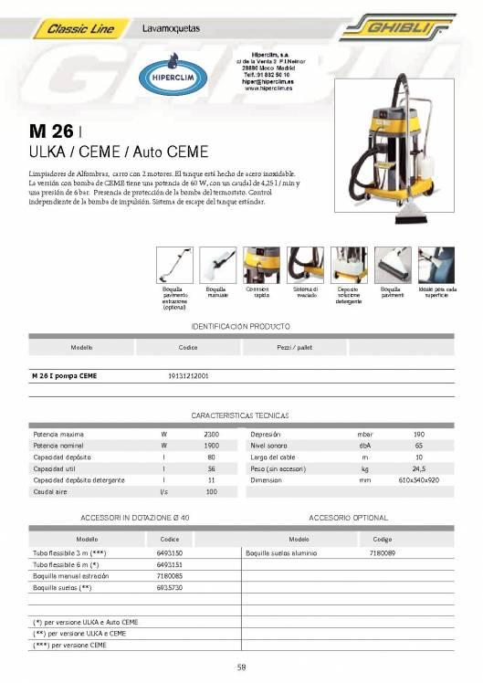 HIPERCLIM. GHIBLI  M 26. Lava aspiradora 1