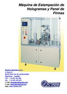 HSM-1A. Máquina de Estampación de Hologramas y Panel de Firmas.