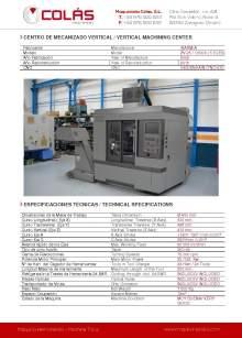 IBARMIA ZV-25 - U 600. Centro de mecanizao vertical.