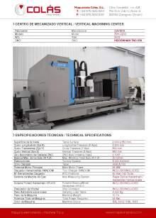 IBARMIA ZVH 55 L2200. Centro de mecanizado vertical