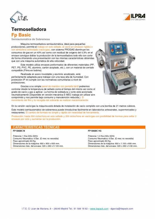 ILPRA  FP Basic. Termoselladora semi-automática 1