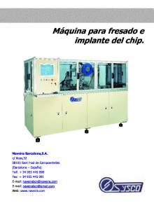 IMA-1500H. Máquina para fresado e implante del chip.