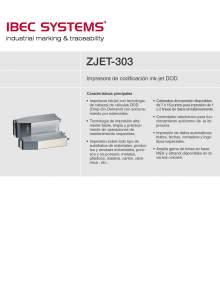 ink-jet ZJET-303.Impresora de codificación.