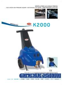 K2000. Hidrolimpiadora de agua fría.