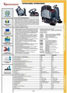 KFB650BBC-KFB850BBC. Fregadora-barredora.