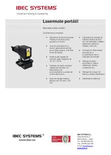 Lasermate Portátil. Marcador pórtatil de fibra óptica.