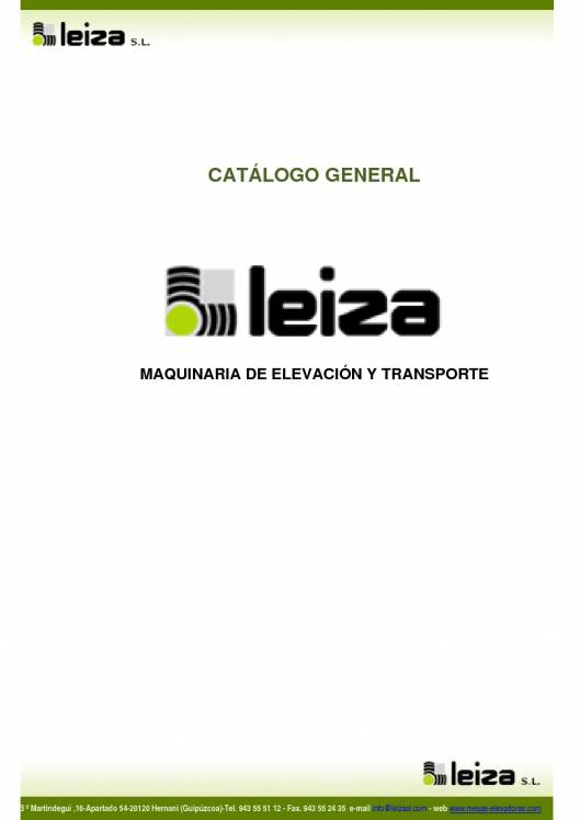 LEIZA SL. Catálogo general 1
