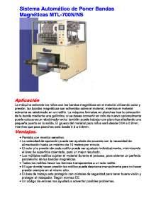 MTL-700N. Sistema Automático de Poner Bandas Magnéticas.
