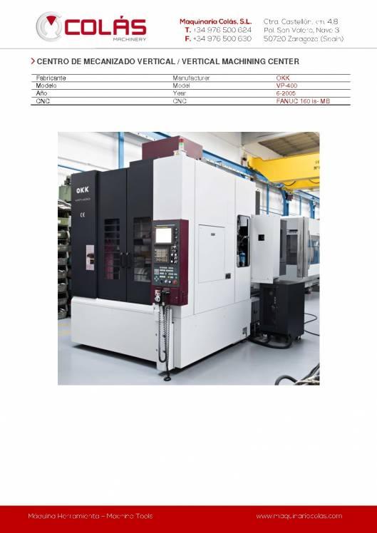 OKK VP-400. Centro de mecanizado vertical 1