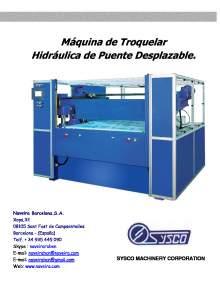 RBC. Máquina de Troquelar Hidráulica de Puente Desplazable