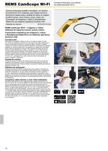 REMS CAMSCOPE Wi-Fi. Cámara-endoscopio con sistema de radiotransmisión Wi-Fi