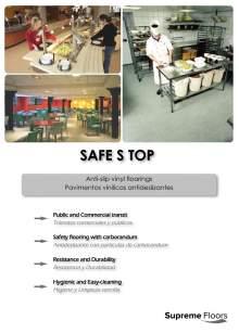 SAFE S STOP. Pavimentos vinílicos antideslizantes.