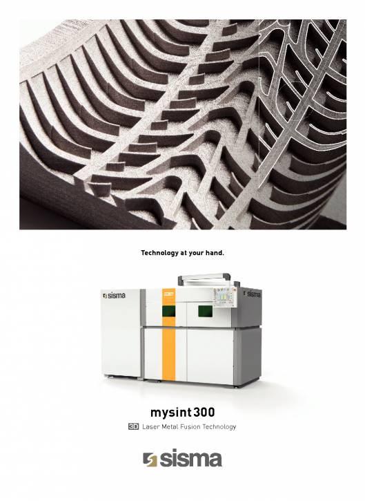 SISMA LASER. MY SINT 300. Impresora 3D mediante la fusión de metales por láser 1