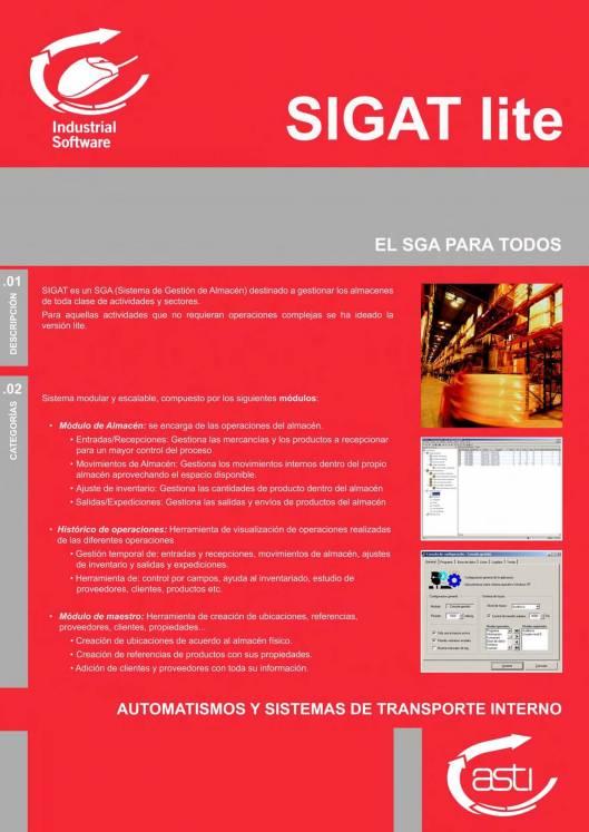 Software de gestión de almacenes SIGAT 1