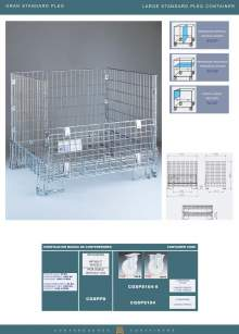 Specifications of Large standard pleg container MARSANZ.