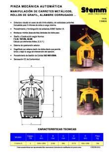 STEMM 11.0034. Pinza de elevación mecánica.